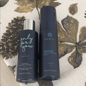 Monat tousled texturizing mist & micellar shampoo
